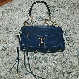Rebecca minkoff mini Mac purse in blue